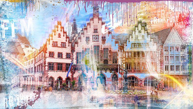 Tourismus, Börse, Brunnen, Römer, Mainhatten, Deutschland