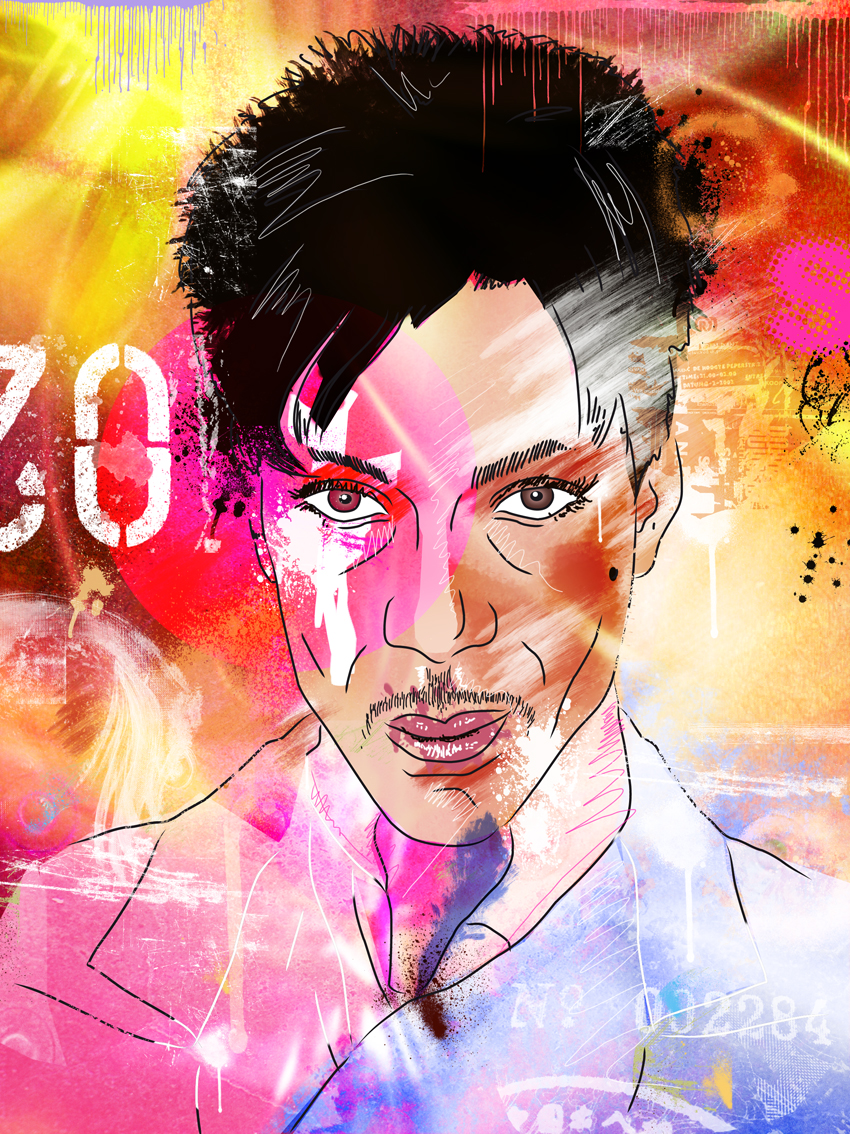 ... / Digitale Kunst / Portrait / Portrait Prince als Mixed-Media-Bild