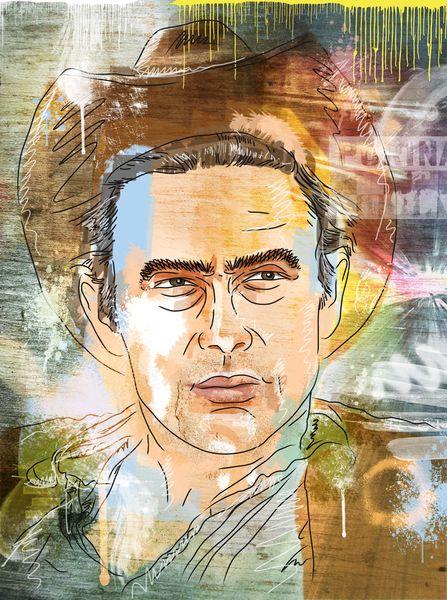 Sänger, Amerika, Portrait, Musik, Zeichnung, Prinz