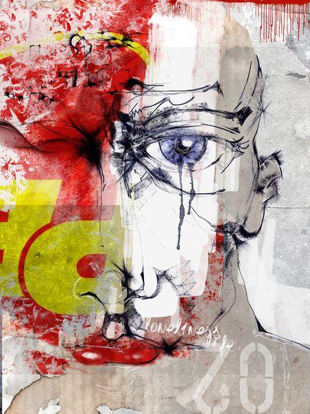 Tränen, Aquarellmalerei, Illustration, Mode, Beige, Skyline