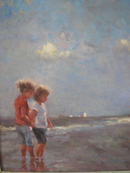 Kinder, Sommer, Strand, Malerei