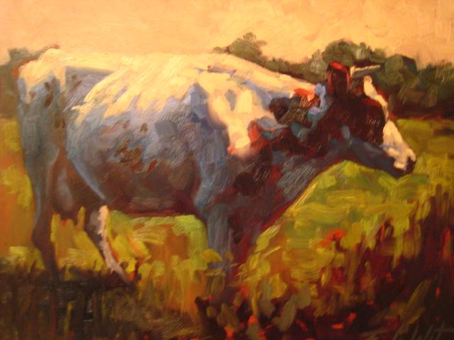 Kuh bunt, Malerei, Tiere,