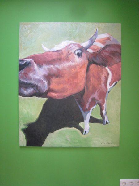 Ölmalerei, Bunt, Kuh, Malerei, Tiere,