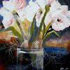 Acrylmalerei, Weiß, Malerei, Blumen