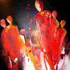 Menschen, Rot, Acrylmalerei, Malerei