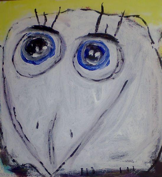 Spatz, Augen, Malerei, Biene