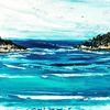 Spachteltechnik, Strand, Ölmalerei, Malerei