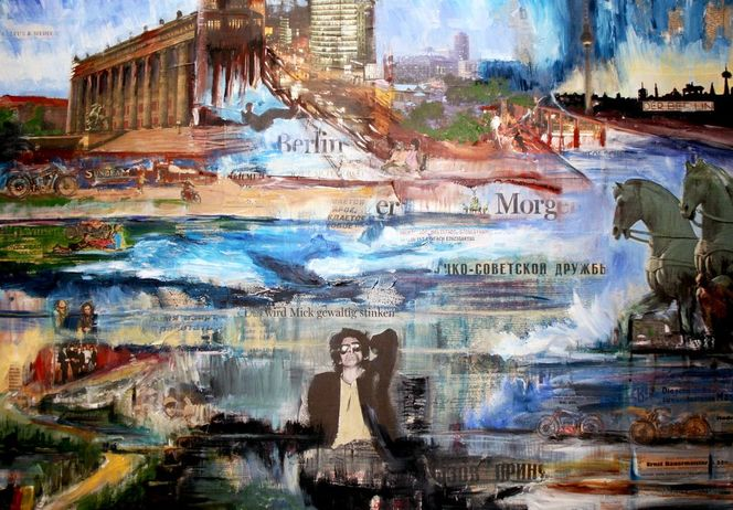 Acrylmalerei, Stadt ansichten, International, Technik, Berlin, Klassiker