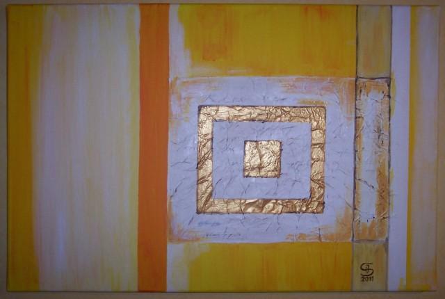 Acrylmalerei, Modern, Collage, Malerei, Rechteck