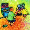 Spiel, Spielzeug, Kinder, Digitale kunst