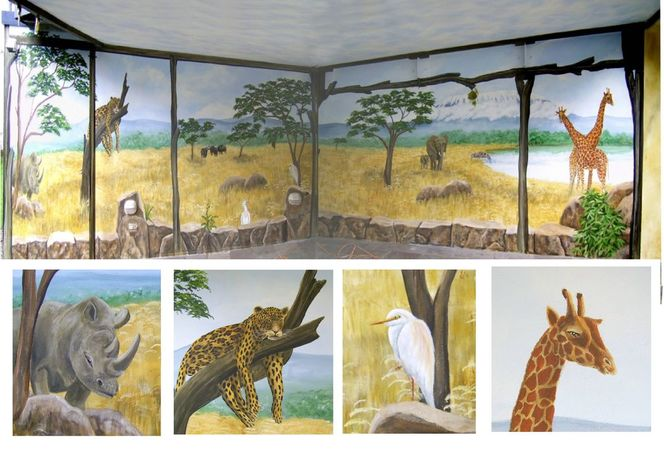 Illusionsmalerei, Afrika, Wandmalerei, Malerei