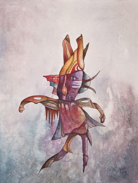 Figur, Surreal, Fantasie, Aquarell, Alien