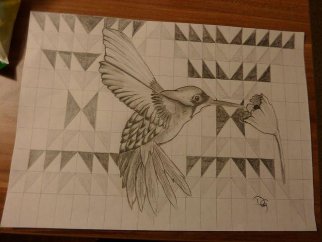 Vogel, Phantasieland, Kolibri, Malerei, Tiere,