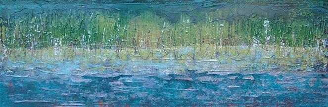 Wasser, Natur, Blau, Ufer, Horizont, Fluss