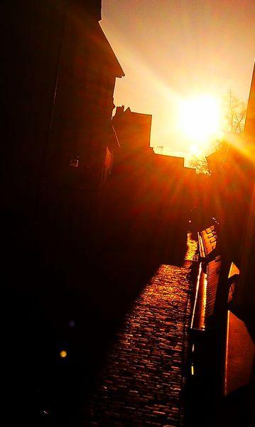 Altstadt, Landschaft, Schatten, Sonne, Gasse, Blende