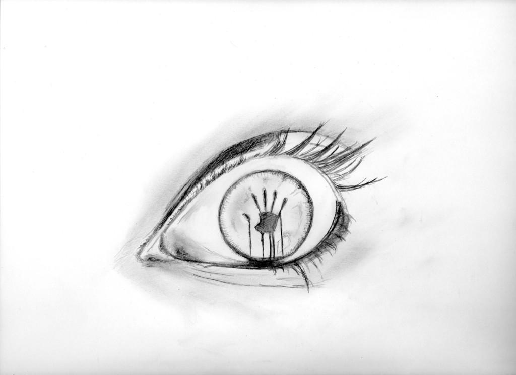 The shocked Eye - Auge hand bleistift, Zeichnungen ...