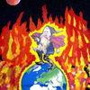 Globus, Trump, Feuer, Mischtechnik