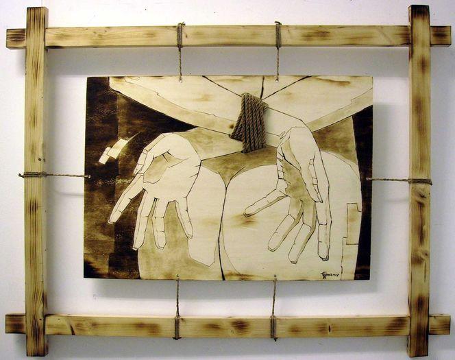 Brandmalerei, Leidenschaft, Frau, Erotik, Kunsthandwerk,