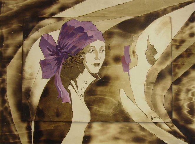Fantasie, Brandmalerei, Acrylmalerei, Portrait, Malerei