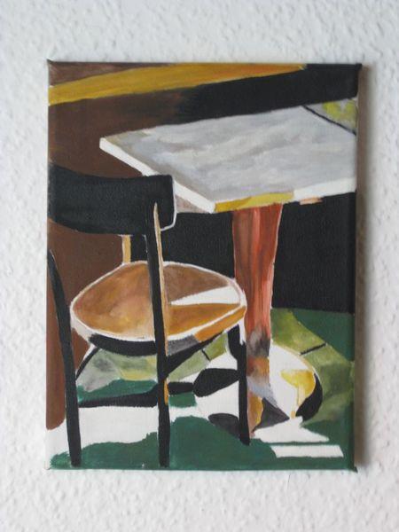 Acrylmalerei, Bar, Ruhe, Malerei