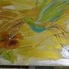 Acrylmalerei, Strukturmasse, Duschgel, Malerei
