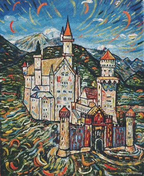 Bunt, Deutschland, Bayer, Schloss, Bauwerk, Ansichtskarte