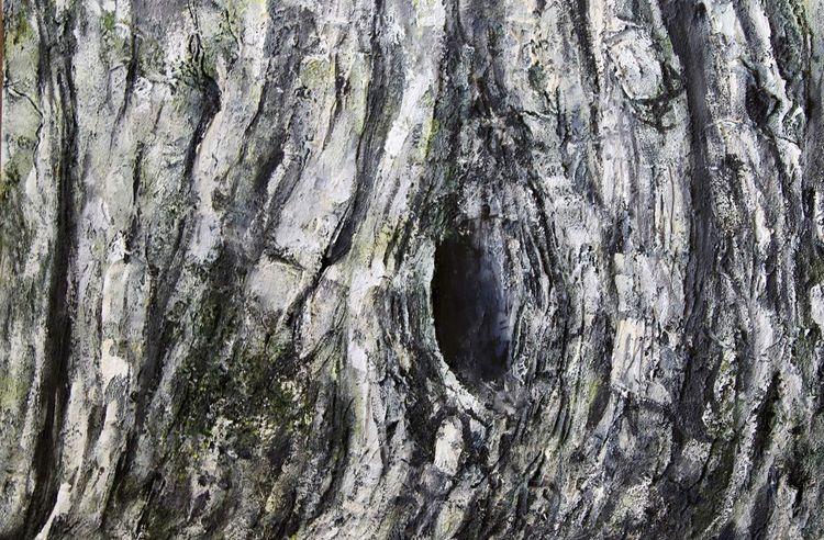 Loch, Acrylmalerei, Olivenbaum, Malerei