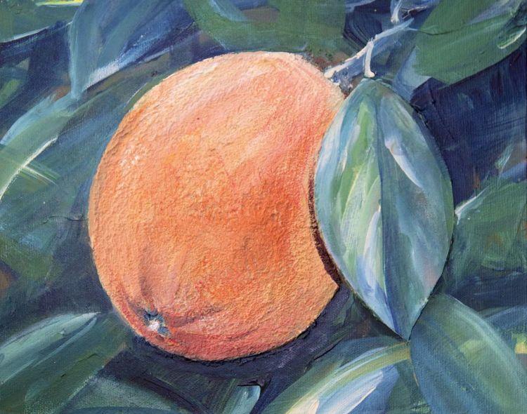 Orange, Acrylmalerei, Pflanzen, Malerei