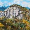 Drome, Erosion, Ginster, Malerei