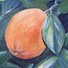 Acrylmalerei, Pflanzen, Orange, Malerei