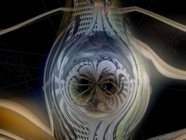Durchblick, Blick, Digitale kunst, Digital,