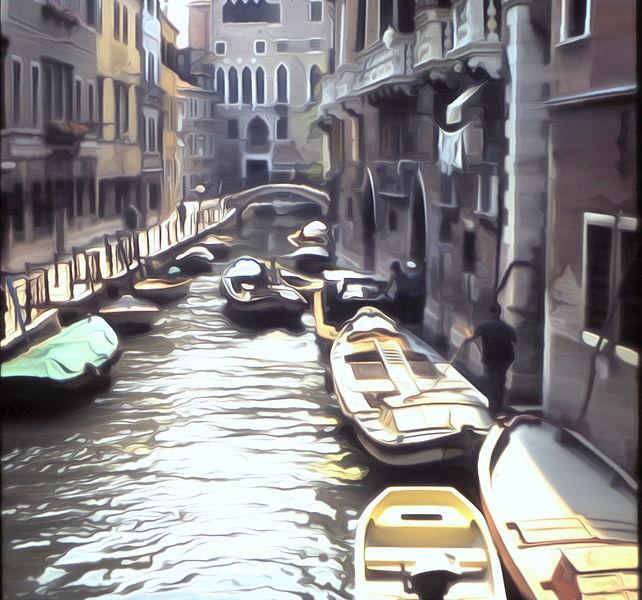 Kanal, Venedig, Canale, 60ties, Morgen, Venezia