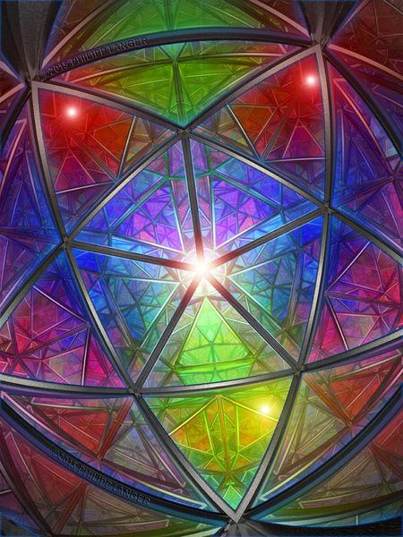 Fratze, Grundfarben, Visier, Vielfarbig, Pentagonal, Streben