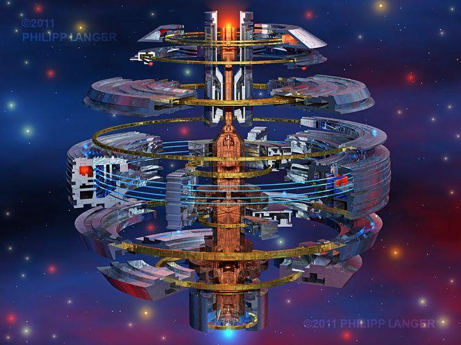 Gold, Space ships, Metall, Lichterkranz, Eisen, Rot blau