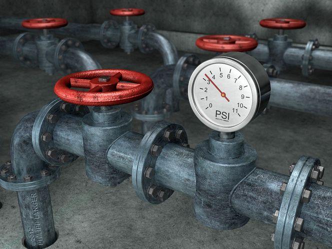 Rohrsegmente, Metallinstallation, Metall, Scratches, Industriell, Loch