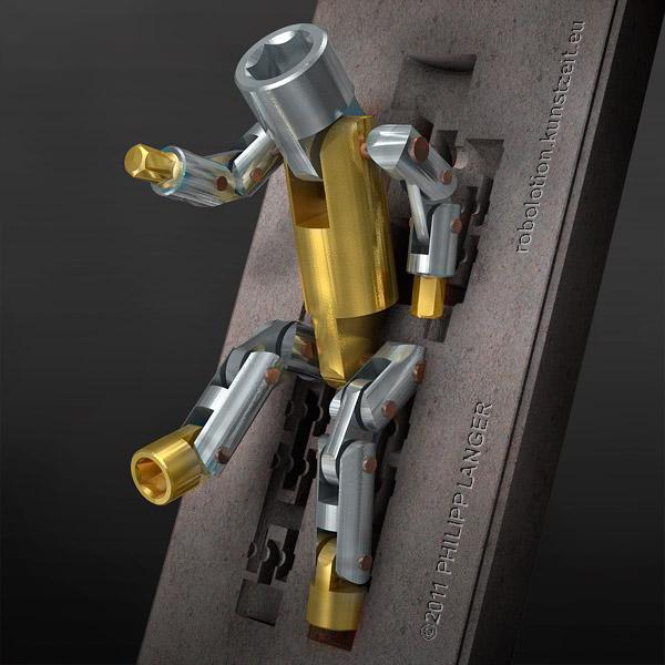 Fuß, Simulations, Lustre, Aluminium, Castmetal, Gettingup