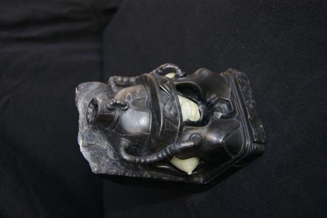 Speckstein, Buchstütze, Figur, Skulptur, Giger, Soapstone