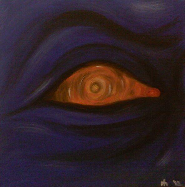 Augen, Malerei, Acrylmalerei, Portrait, Kontrolle,