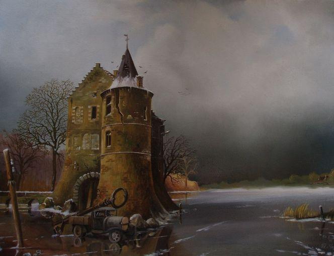 Lkw, Landschaft, Romantiek, Slusselloch slussel, Winter, Fantasie