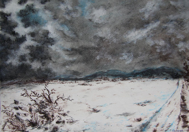 Wolken, Winter, Kälte, Osterwald, Unwetter, Schnee
