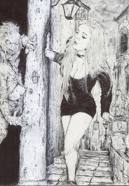 Blond, Horror, Mädchen, Comic, Zombie, Frau