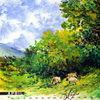 April - schafe, sheep,baum,wald,grün,frühling,romantik,landschaft,landscape