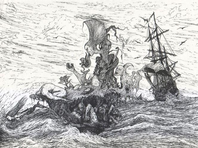 Schiff, Alptraum, Surreal, Seegelschiff, Traum, Meer