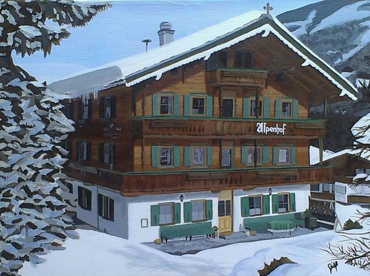 Äste, Hotel, Hütte, Alpenhof, Bank, Winter