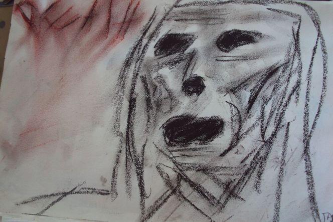 Leere, Gestalt, Schwarz, Expressionismus, Malerei