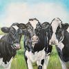 Holsteiner, Frühling, Kuh, Malerei