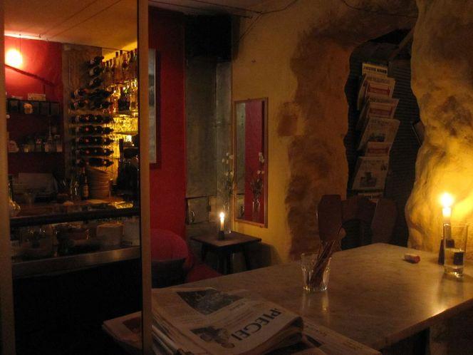 Kneipe, Kerzen, Café, Spiegel, Fotografie, Wein