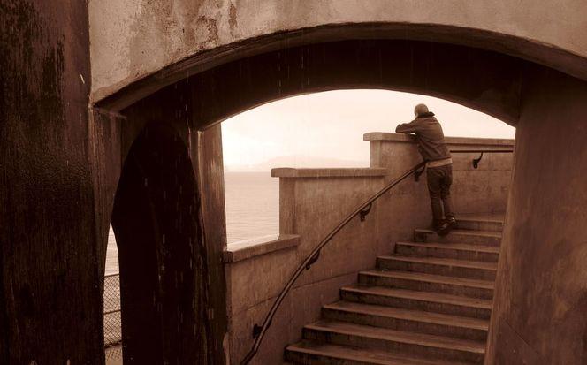 Treppe, Leuchtturm, Mann, Wasser, Bogen, Stanley