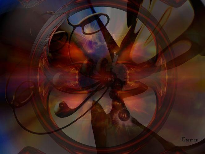 Digitale kunst, Abstrakt, Rot, Digital art, Schrei