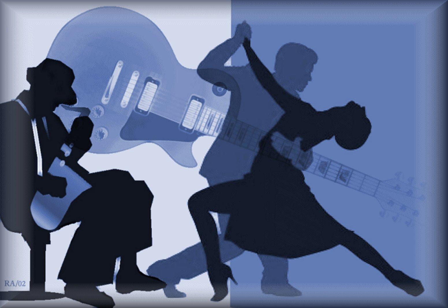 Bild: romantische musik, blau, stunde, collge band von netteart ...